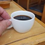 川清 そば店 - サービスのコーヒー