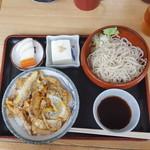 川清 そば店 - カツ丼セット850円