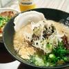 頑力屋 - 料理写真:「豚丼セット(黒マー油とんこつらーめん)」¥1,000税別