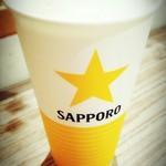 頑力屋 - サッポロビール千葉工場直送の「生ビール」¥417税別