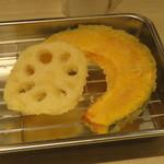 博多天ぷら たかお - れんこん、かぼちゃ