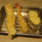 博多天ぷら たかお - いか、海老、なす