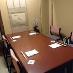 人形町今半 - 私達の 部屋    テーブル席だけをお願いしました 個室でした
