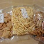 京あられ 東坂米菓 - 3種類頂いてみました