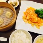 京鼎樓 恵比寿本店 - 乾焼滑蝦仁 - ふわふわ卵のエビチリ定食