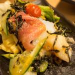 串焼き 村山 - 魚介サラダ(取分け後