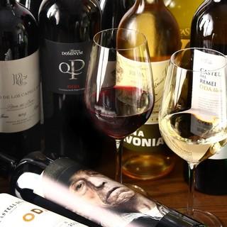 スペインワインを約40種ほどをご用意しております!