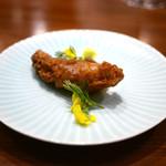 虎峰 - 岩手産牡蠣のフリット パクチー添え