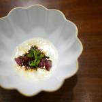 虎峰 - 和牛肩三角とジャガイモのソース