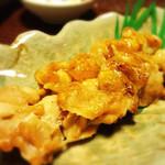 居酒屋あいうえお - 大山鶏のハラミ串焼き