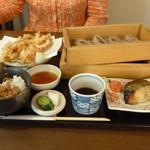 蕎膳 楽 - かき揚げと鰆の焼き物のセット