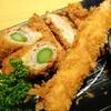 新宿さぼてん - 料理写真:選べる定食より(フォトは アップで撮っています。)・ひれかつ ・エビフライ ・アスパラ巻きかつを