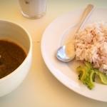 食堂かりか - ほうれん草&チキンカレー