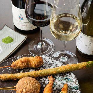 お料理と一緒に自然派ワインも是非
