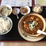 中華料理 順和園 - 麻婆豆腐ランチです。