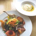コチェリーノ - [ランチ]前菜の盛り合わせとスープ(日替わり)