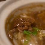 喆祥房 - 紅焼牛筋腩煲(うしすぢとばらのしやうゆにこみ)、牛腩(うしのかたばら)