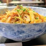 四季よし - 野菜豆板醤和えラーメン(汁なし)