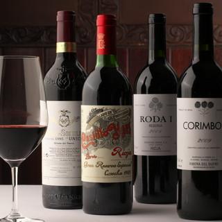 ★選-スペインから取り寄せる100種以上のワインや豊富なお酒