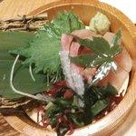 魚民 - 寒ブリお造り☆523円