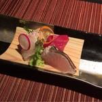 博多 十和蔵 - 旬魚3種盛りあしらい一式