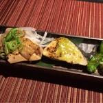 博多 十和蔵 - 冠地鶏の炭火焼と鰆木の芽味噌焼〜ししとう柚子卸〜