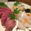 あわい - 料理写真:お刺身(カツオ、ヒラメ、白ミル貝)
