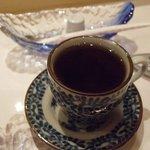 ふらの 海の花 - ランチの珈琲。デミカップで薄めの味。