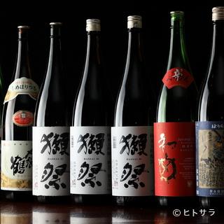 小田原では入手困難なこだわりの日本酒が勢ぞろい!
