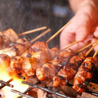 厳選された食材使用の自慢の焼き鳥・魚串焼きも☆
