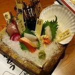 まるごと北海道花の舞 十勝ファーム - 「刺身5点盛り合せ」