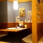まるごと北海道花の舞 十勝ファーム - テーブル席。