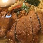 客野製麺所 - 薄口醤油パーコー麺、煮卵追加。