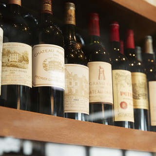 最高級和牛の旨みを引立てるワインを厳選