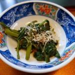 一翔 - 美味しい春の山菜風味あり、なんでしょう?うどの葉!?