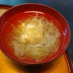 一翔 - 玉子とキャベツの味噌汁