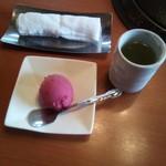 焼肉平城苑本館 - シャーベットと温かいお茶