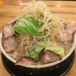 ビストロde麺酒場 燿 - G麺系ガッツリらーめん!東京とんこつ!もやし山盛りボリュームあり