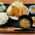 地酒とそば・京風おでん 三間堂 - ミックスフライ定食¥850