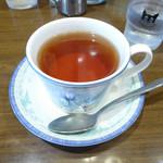 のらくろ - ランチセットの紅茶