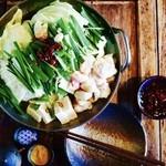 獅子丸 - 料理写真:もつ鍋