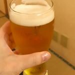 おもてなし茶屋 咲扇 - 先ずは生ビールで乾杯です