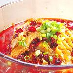 辣醤中華 味くら - ハチノスの唐辛子汁煮(水煮牛胆)(すぇつぇーにゅうどん)