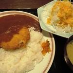 Tonkatsutowashokunobutake -  黒豚メンチカツカレー