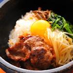 焼肉竹林 - 石焼焼肉ビビンバ1080円