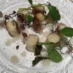 アテスエ - フランス産ホワイトアスパラガスのバター焼き