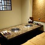焼肉竹林 - 個室感覚の落ち着く店内