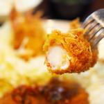 66807461 - 海老クリームコロッケ+海老フライ定食