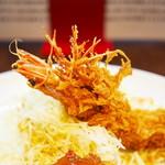とんかつ ひろ喜 - 海老クリームコロッケ+海老フライ定食