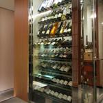 祇園 きだ - (2017年1月)店内のワインセラー